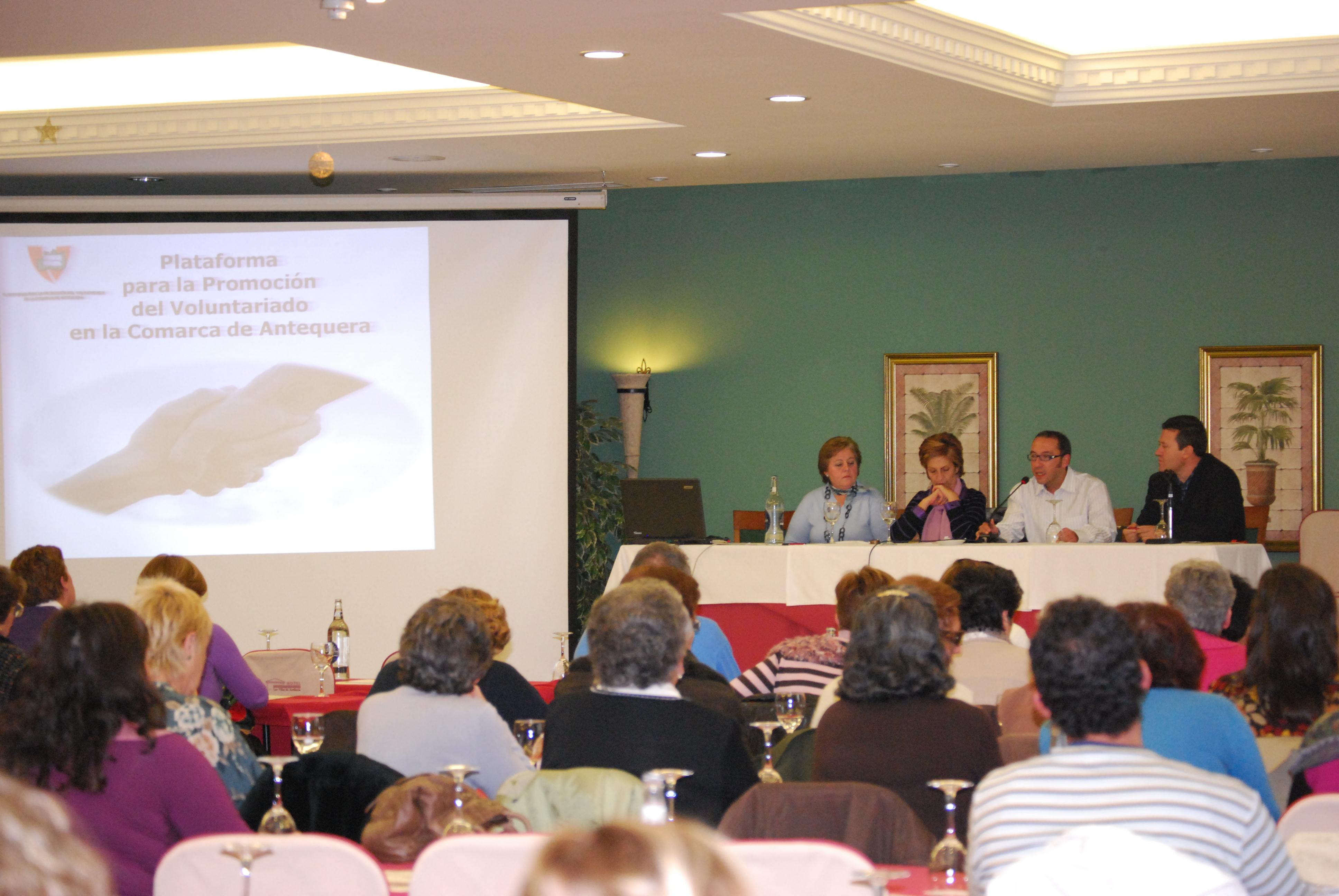 Presentación de AMELGAR en las II Jornadas de Voluntariado.