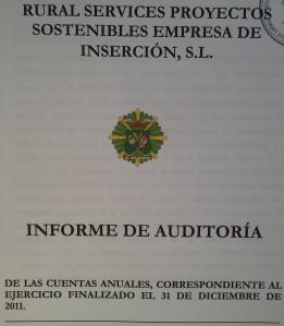 Portada Auditoría Rural Services S.L.