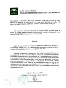 Calificación Definitiva Rural Services